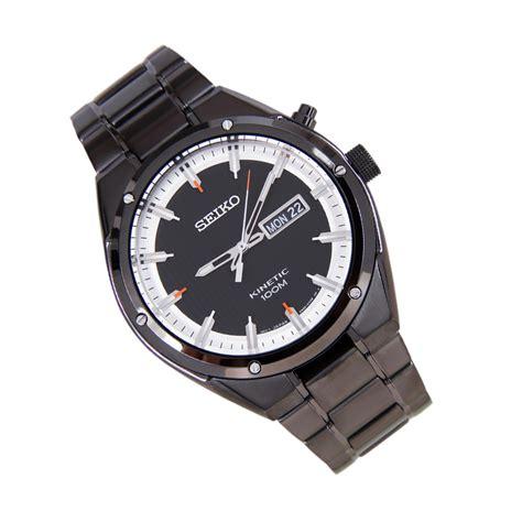 Seiko 5 Sports Snzj29k1 Black Ion Plated Bracelet Jam Pria Snzj29 seiko s ion plated stainless steel kinetic smy153p1
