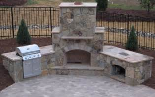 Outdoor Fireplace And Grill - how to build a wood burning brick outdoor fireplace hirerush blog