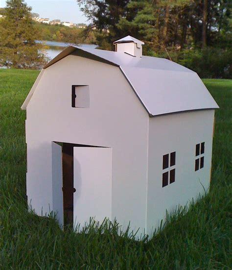 Cool Cardboard Playhouses By Joestoybox Kidsomania Cardboard Cottage Playhouse