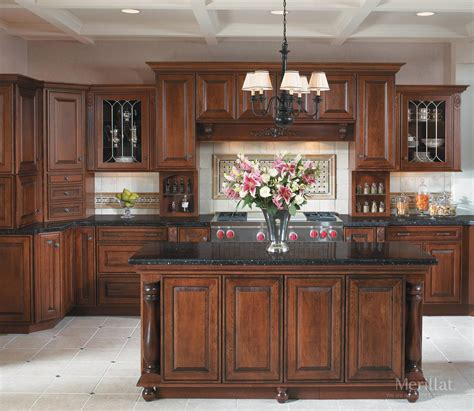 kitchen ideas with cherry cabinets large brown wooden cherry kitchen cabinet with rectangular