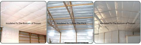 low cost insulation for insulating pole barns and buildings