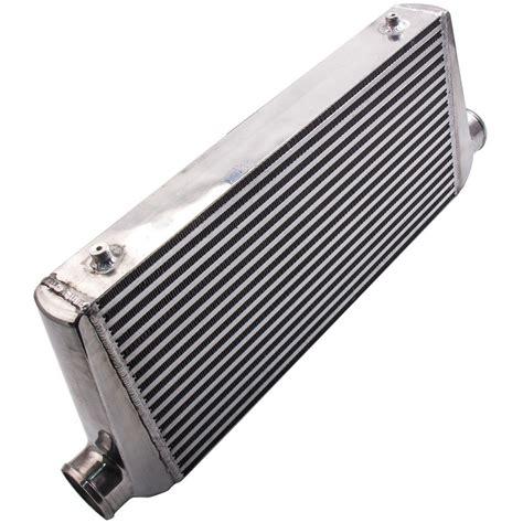 intercooler plate full aluminum bar front mount xxmm  outlet inlet  ebay