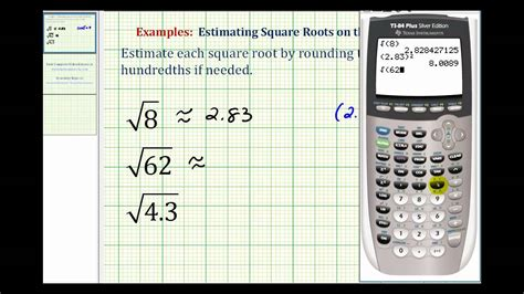 calculator root ex estimating square roots with the calculator youtube