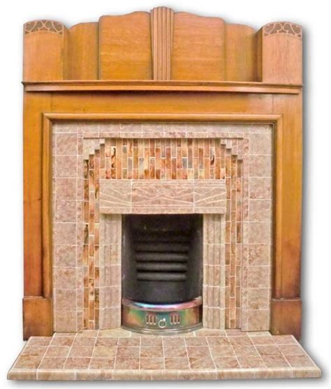 1930s Fireplace Tiles by Original Complete 1930s Fireplace Twentieth Century