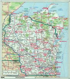 Wisconsin On A Map by Wisconsin State Map Map Of The World