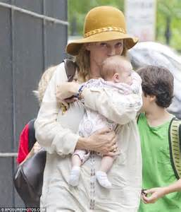 Cbell Takes Uma Thurmans Seconds by Uma Thurman Cradles Baby As She Dotes On