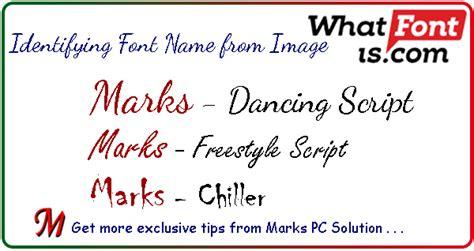 identify font from image how to identify a font name from image marks pc solution