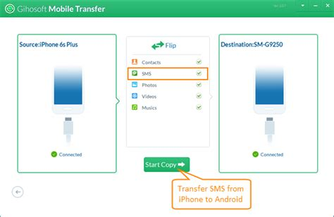 transfer sms from android to iphone how to transfer sms imessages from iphone to android devices