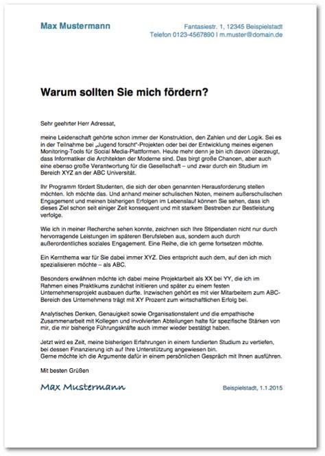 Anschreiben Deutschlandstipendium Motivationsschreiben Verfassen Anleitung Muster Karrierebibel De