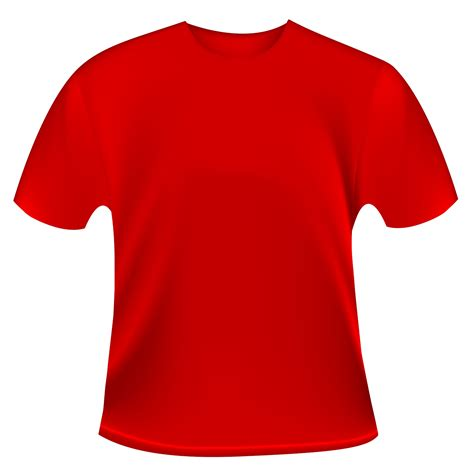red vector t shirt template