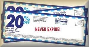 Bed Bath And Beyond Coupons Never Expire 3 Three 20 Off Bed Bath And Beyond Never Expired Coupon