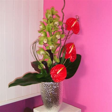 Orchids In A Vase Cymbidium Orchid Arrangement Fiona Penny At Sunflowers