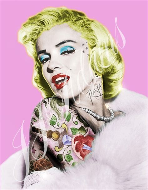 marilyn monroe with tattoos poster 48 best jj images on gallery