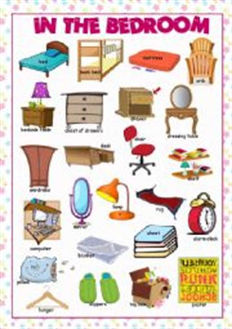 Living Room Picture Dictionary Worksheets Bedroom Picture Dictionary