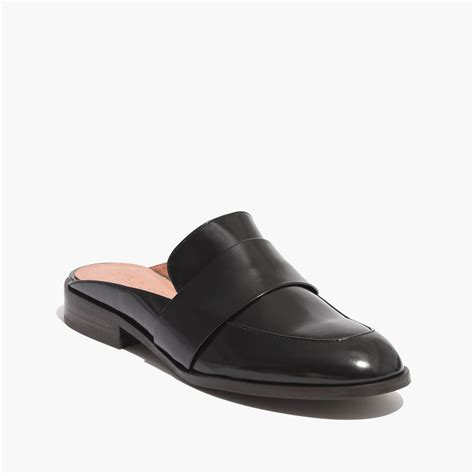 backless loafers womens madewell the elin backless loafer in black true black lyst
