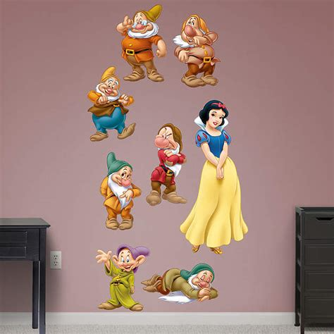 snow white wall stickers snow white and 7 dwarfs collection wall decal shop fathead 174 for disney princesses decor