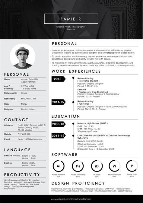 design own cv re design my own resume anirudh pinterest cv