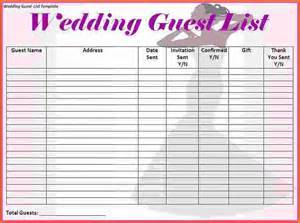 wedding guest list template free printable free wedding guest list template printable wedding sample guest list 8 documents in pdf word excel