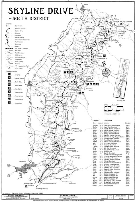 skyline drive map file skyline drive map 3 south district jpg
