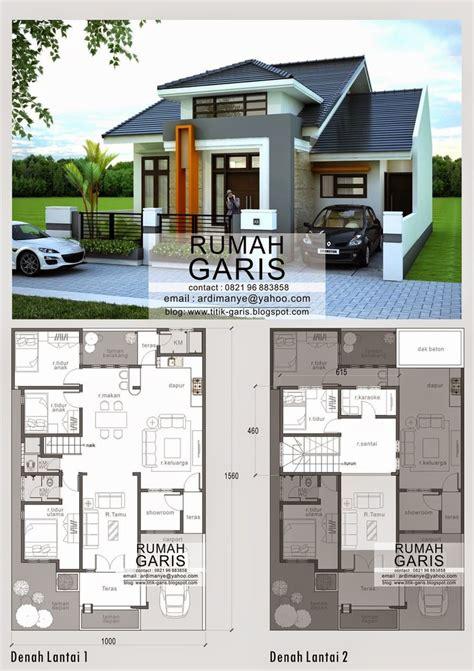 desain rumah open plan desain model denah dan tak rumah 2 lantai di makassar