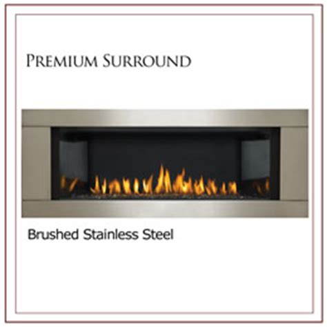 Napoleon Lhd45 Linear Gas Fireplace by Napoleon Premium Stainless Steel Four Sided Fireplace