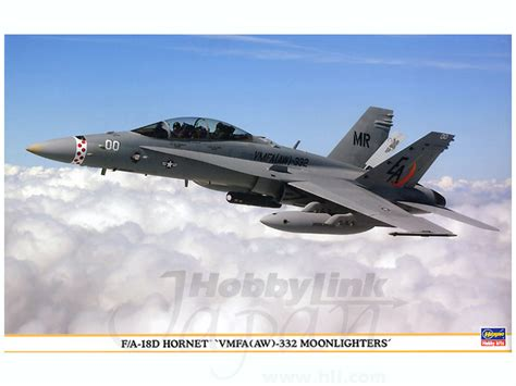 Hasegawa 1 48 07203 F A 18d Hornet Attack 1 48 f a 18d hornet vmfa aw 332 moonlighters by hasegawa hobbylink japan