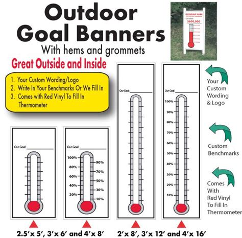 printable thermometer banner 1000 images about fundraising thermometers and goal