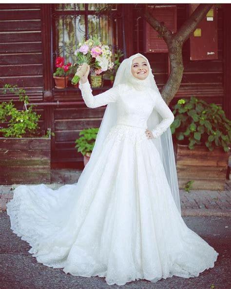 Gaun Mermaid Putih Baju Pengantin Berhijab Wedding Gown New 73 muslim wedding dresses with photos 2017 collection