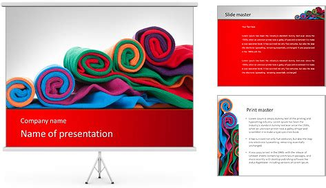 fabric templates colorful fabric powerpoint template backgrounds id