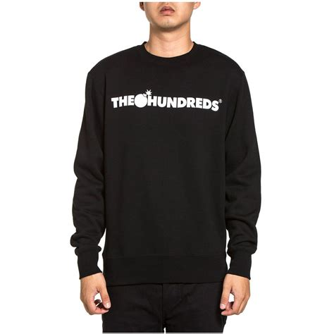 Jaket Sweater Hoodie Hoodie Dephect Black Home Clothing the hundreds forever bar crewneck sweatshirt black