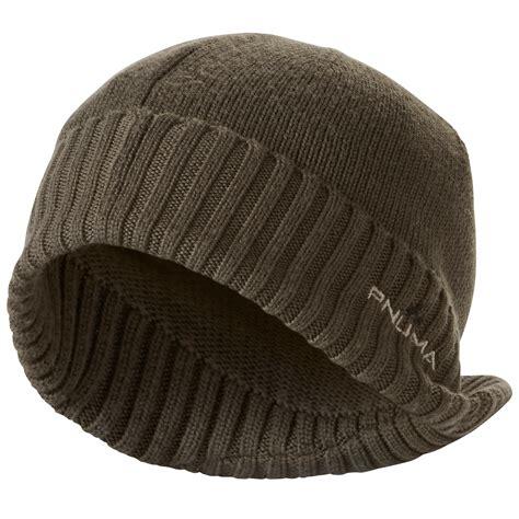 Merino Wool merino wool visor beanie hat pnuma