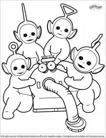 coloring pictures teletubbies coloring picture