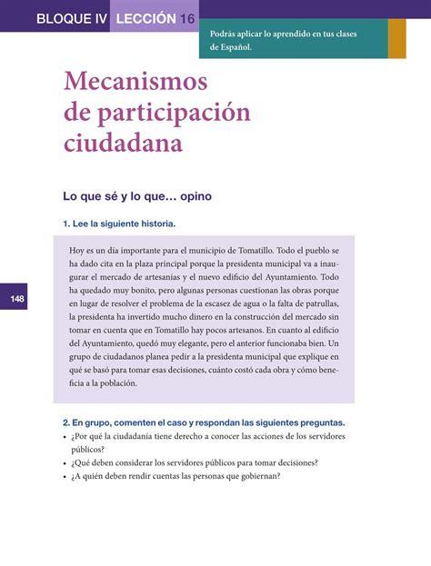 libro de formacion civica y etica de 5to con las respuestas formaci 243 n c 237 vica y 201 tica sexto grado 2016 2017 online