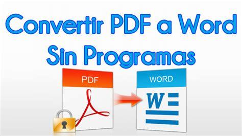 convertir imagenes de pdf a word gratis convertir pdf a word gratis descargar chinctadown