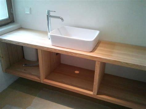 Badezimmer Unterschrank Mit Holzplatte by 100 Unterschrank F 252 R Aufsatzwaschbecken Holz Bilder Ideen