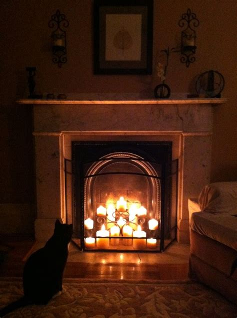 fireplace candles best 25 fireplace with candles ideas on pinterest