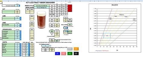 Homebrew Spreadsheet by Brewing Spreadsheet Buff