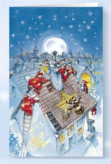 weihnachtskarte branchenkarte zimmereien und dachdecker