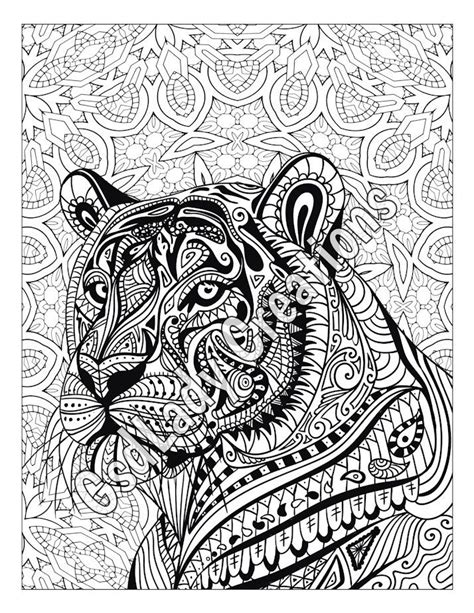 zentangle patterns coloring pages zen tiger animal art page to color zentangle animal