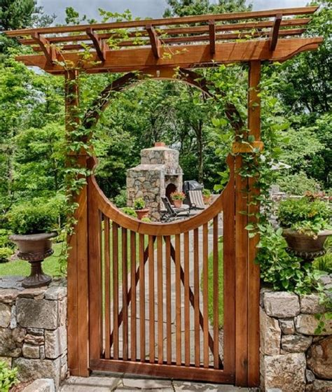 chinese moon gate wooden moongate   outdoor kitchen
