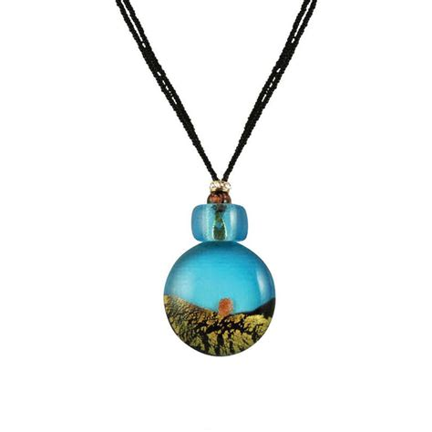 vista sky blue venetian murano glass pendant necklace