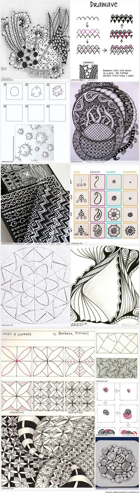 doodle calendar tutorial 17 best images about zentangle for beginners on