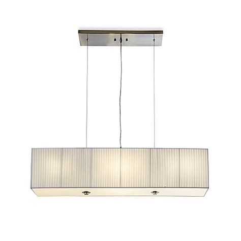 Rectangular Shade Pendant Light Buy Sharper Image 174 Rectangular Pendant L With White Plisse Shade From Bed Bath Beyond