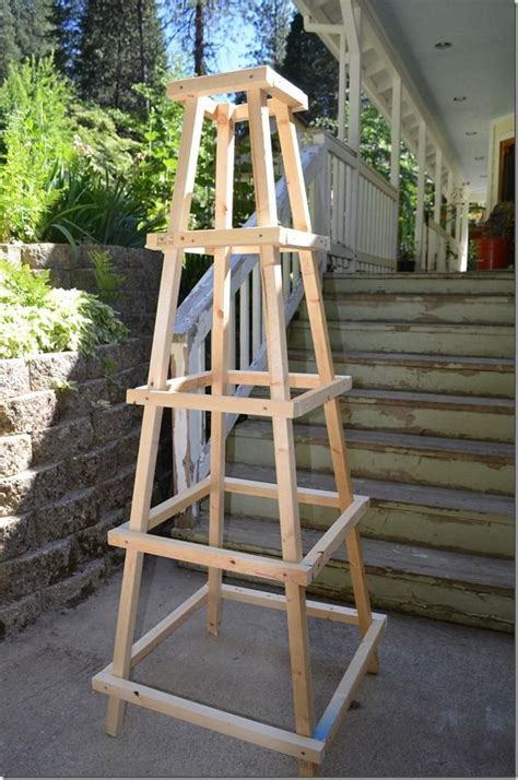 building a garden trellis garden trellis obelisk home projects pinterest