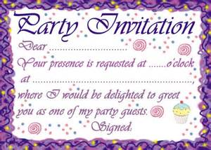 Classical style birthday party invitation print to invite your