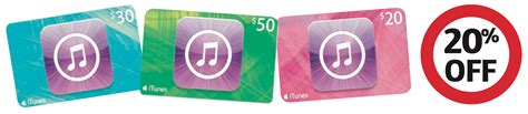 Gift Cards 20 Off - expired save 20 off itunes gift cards at coles this week gift cards on sale