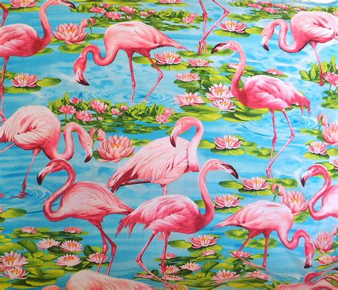 Flamingo Quilt Fabric by Pink Flamingo Fabric Flamingo Fabric Cotton Material