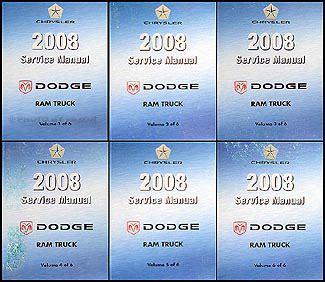 vehicle repair manual 2008 dodge ram 1500 on board diagnostic system 2008 dodge ram truck repair shop manual original 6 volume set