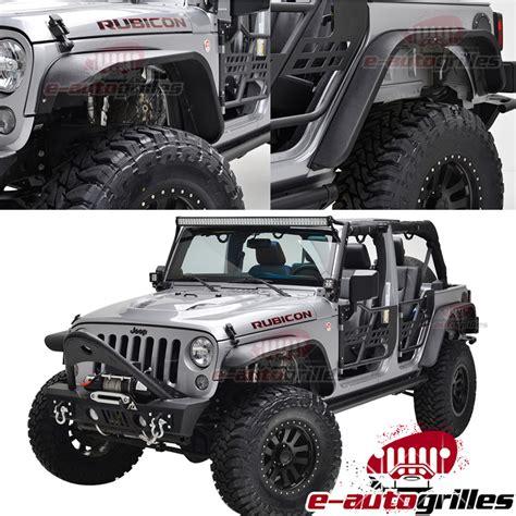 Jeep Jk Steel Fenders 07 17 Jeep Wrangler Jk Steel Flat Style Front Rear