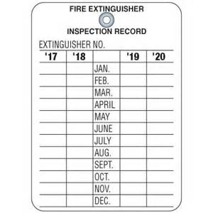 extinguisher inspection tag template extinguisher inspection tag emedco